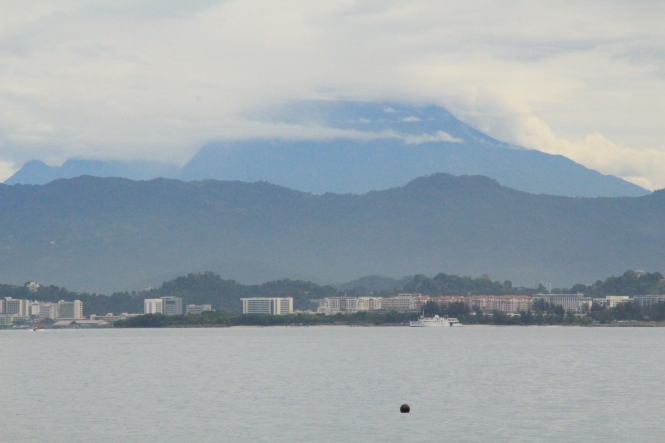 Mount Kinabalu as seen from Mamutik Island