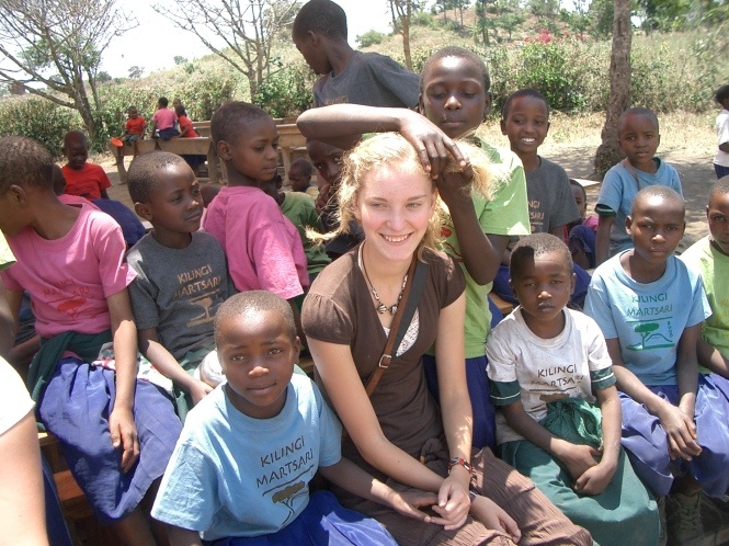 The kids in Tanzania liked to play with my hair